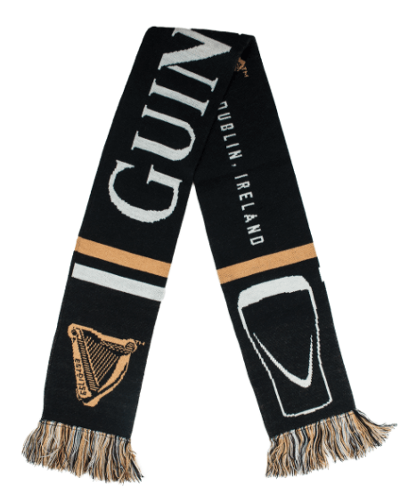 Scarf with a Guinness print