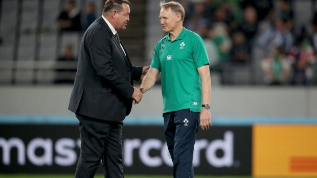 Joe Schmidt's Ireland team conquered the All Blacks, twice. Before their World Cup meeting. File photograph: Inpho