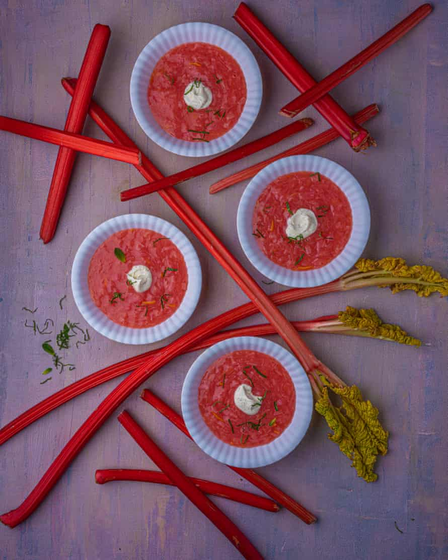 Stick with it: rhubarb soup.