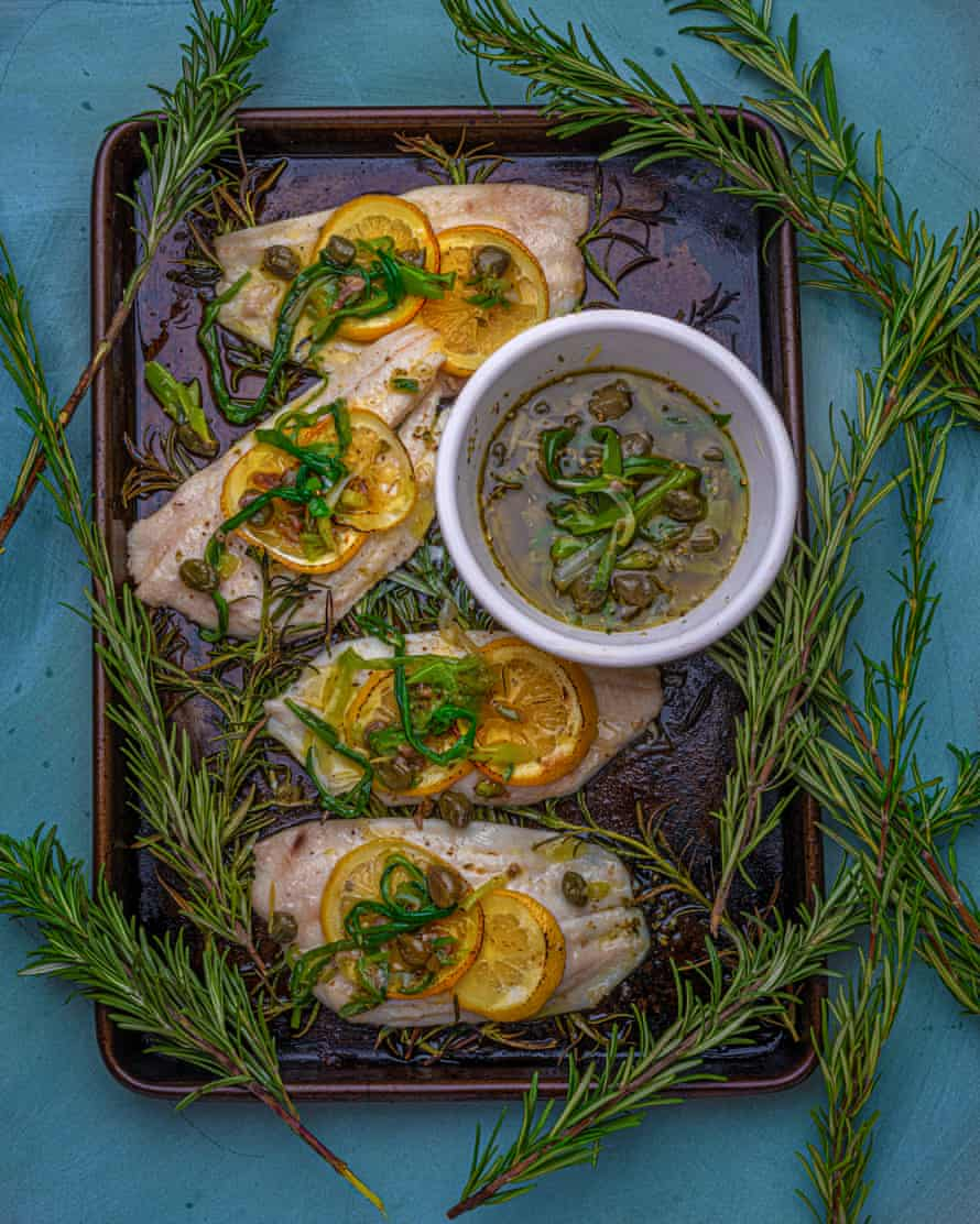 'Boiling onions takes the sharp edge off': onion sauce and lemon sole.
