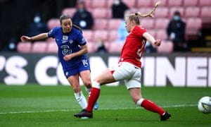 Fran Kirby gets Chelsea's fourth of the half.