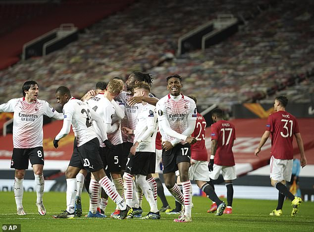 Manchester United must now focus on overturning an away goal deficit against AC Milan