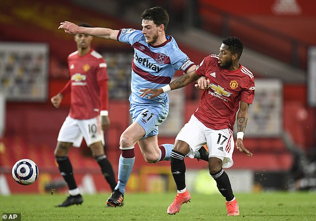 Rice has regularly worn the captain's armband for West Ham despite being just 22 years old