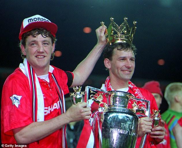 Bruce (left) never won an England cap despite being in three Premier League-winning sides
