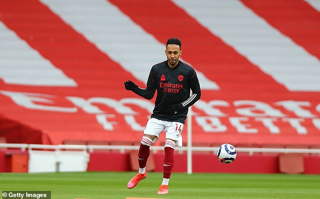 Aubameyang reportedly chose not to warm down with the fellow unused substitutes