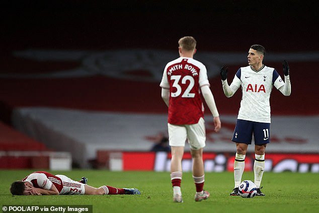 During second half Lamela cost his team dearly with a red card after two bookable offences