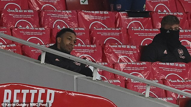 Pierre-Emerick Aubameyang was the first Arsenal player to leave the Emirates Stadium after he was dropped from their north London derby win over Tottenham on Sunday