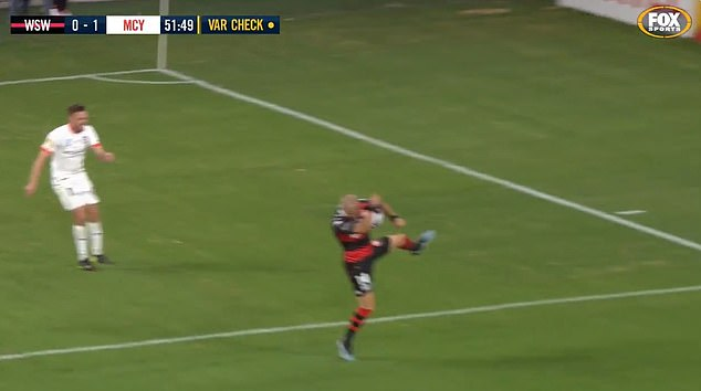 James Troisi appeared to handle the ball inside the penalty area but a corner kick was given