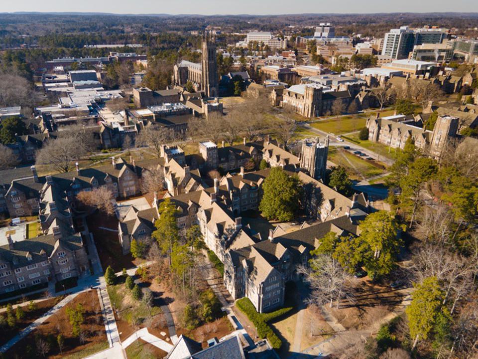 Aerial over Duke University