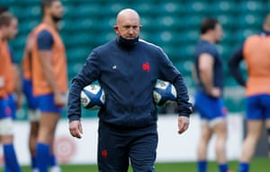 France assistant coach Shaun Edwards during the warm up.