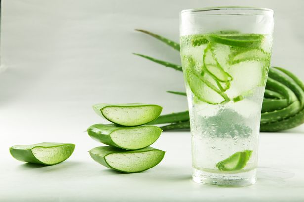 Water with aloe vera