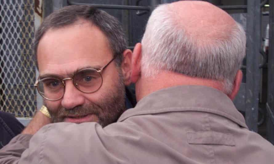 Patrick Magee after he was released from the Maze prison in Belfast in June 1999.