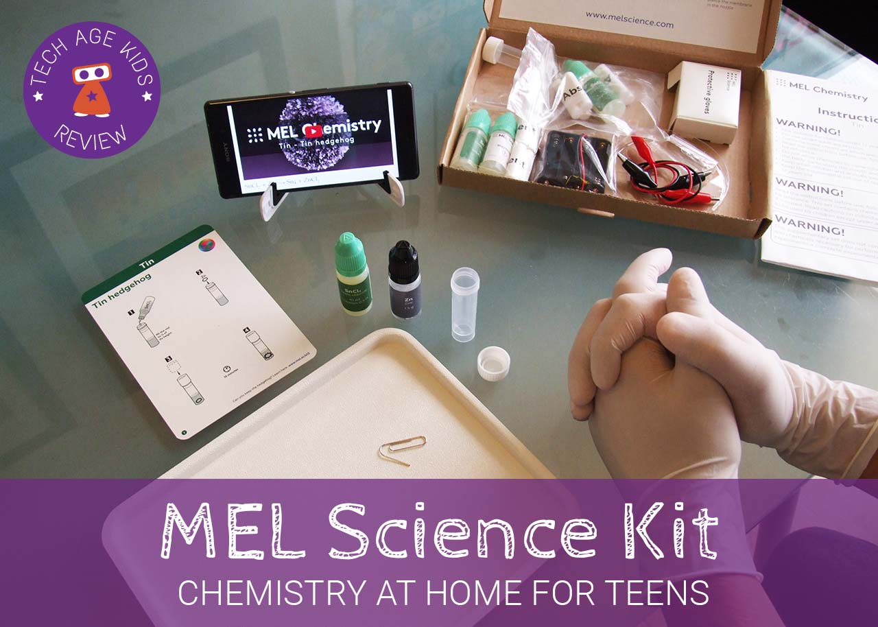 MEL Science Subscription Kit Review, Now with MEL Codes | Tech Age Kids |  Technology for Children