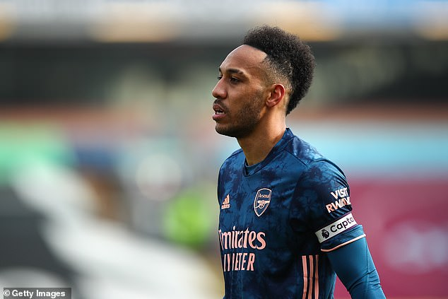 Pierre-Emerick Aubameyang has been left out of Arsenal's starting XI against Tottenham