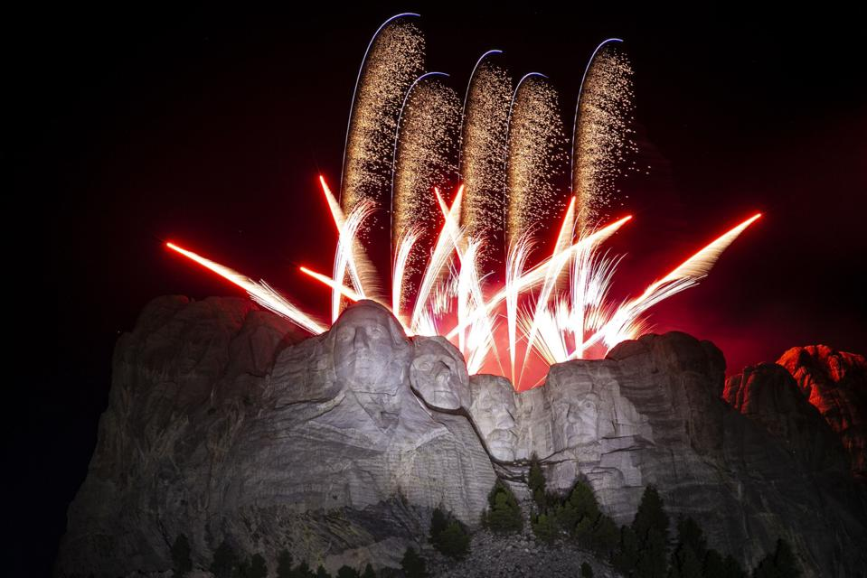 Fourth Of July Fireworks Mount Rushmore July 4th