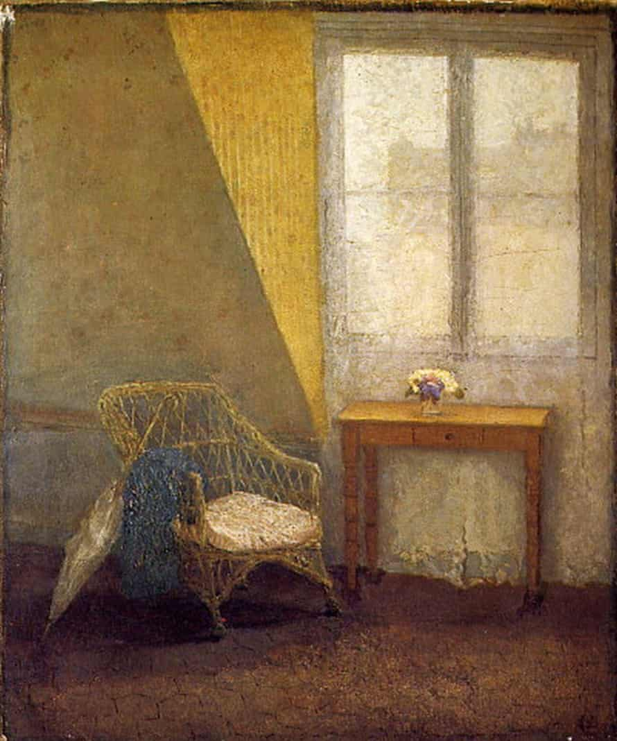 Gwen John's A Corner of the Artist's Room in Paris, in which an umbrella is a substitute for John