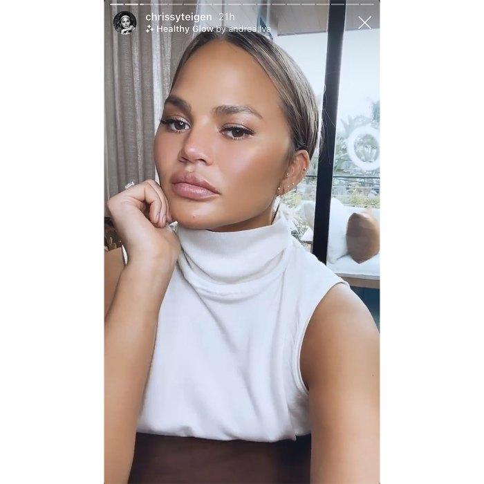 chrissy-teigen-white-turtleneck-tank-instagram