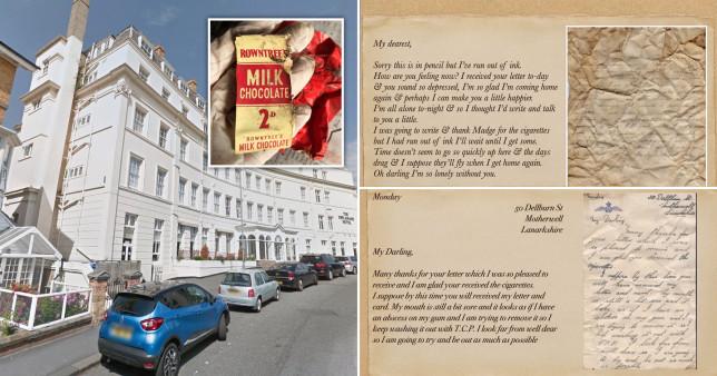 Love letters found under floorboards of seaside hotel