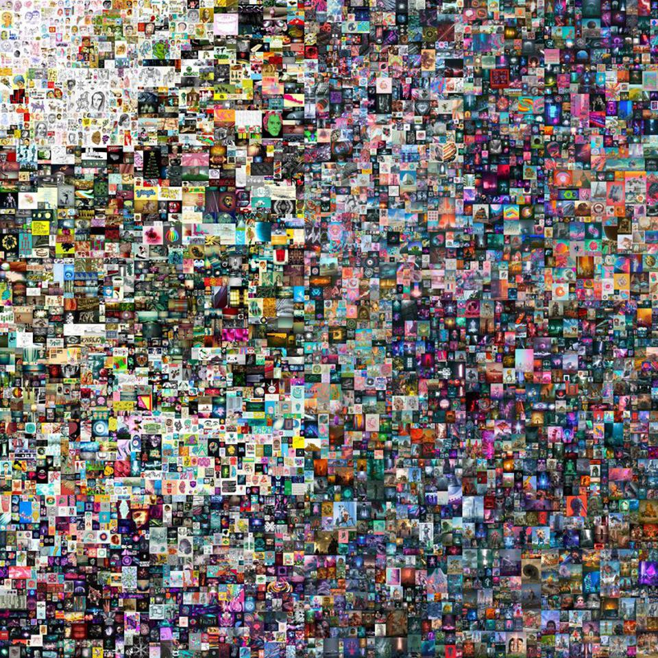 A colorful digital collage that sold for the equivalent of nearly $70 million in ether.