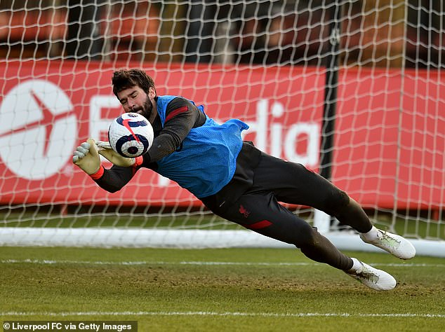 Liverpool's Brazilian goalkeeper Alisson Becker could miss two World Cup qualifiers