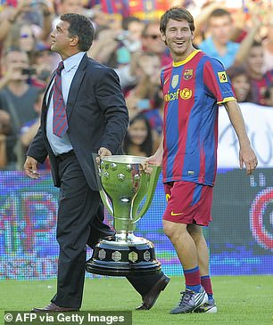 Messi and Laporta enjoyed a successful period together during his initial run as president