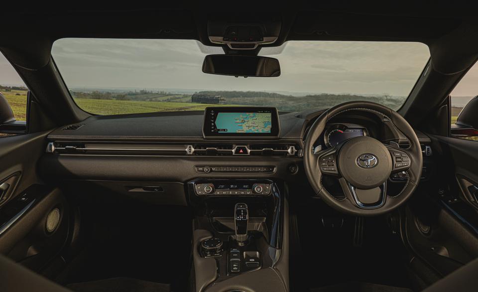Interior of the 2021 Toyota GR Supra