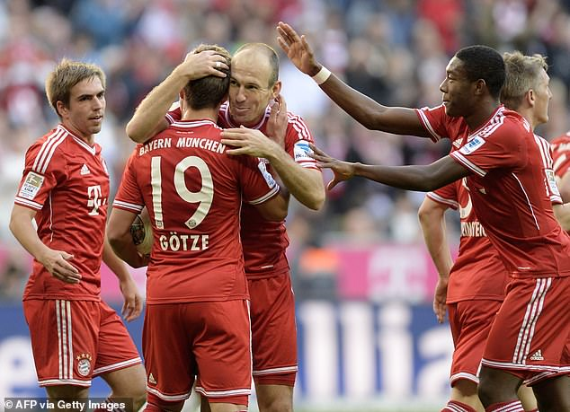 Guardiola's Bayern had to come from behind to beat Tuchel's Mainz 4-1 in October 2013
