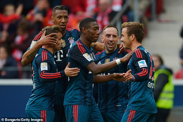 Bayern needed 82 minutes to break down Tuchel's Mainz side in a March 2014 meeting