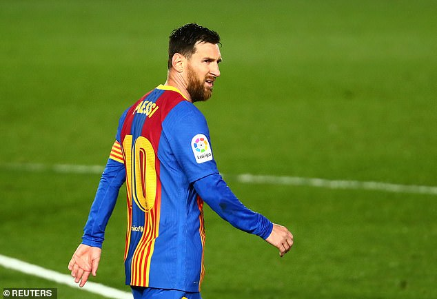 Messi has been linked with summer moves to Manchester City and Paris-Saint Germain
