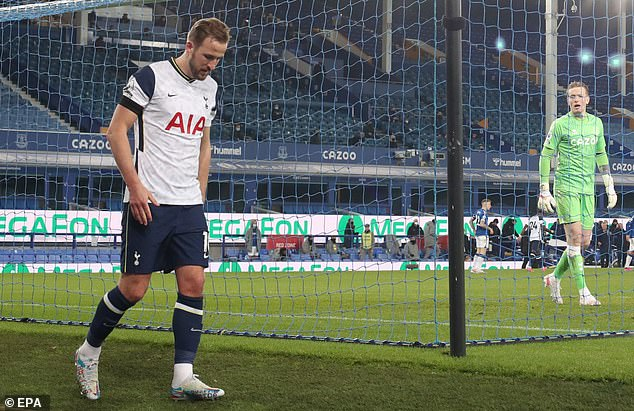 The England captain trudged off the pitch just over a week before Spurs' Carabao Cup final