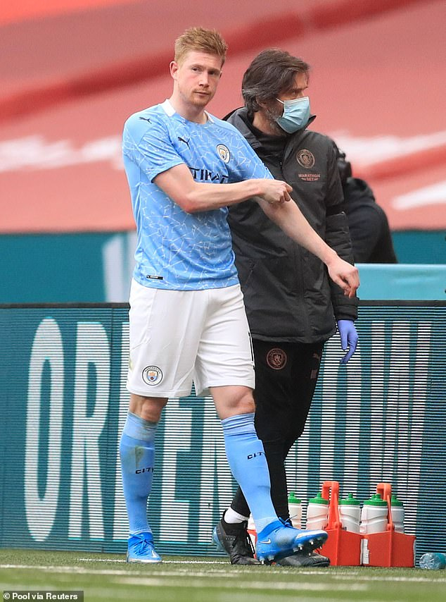 De Bruyne was subsequently substituted, limping off the pitch before heading down the tunnel