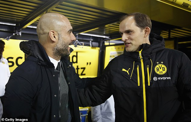 There is a warm mutual respect and friendship between Pep Guardiola (left) and Thomas Tuchel (right) from their time as rival managers in Germany's Bundesliga