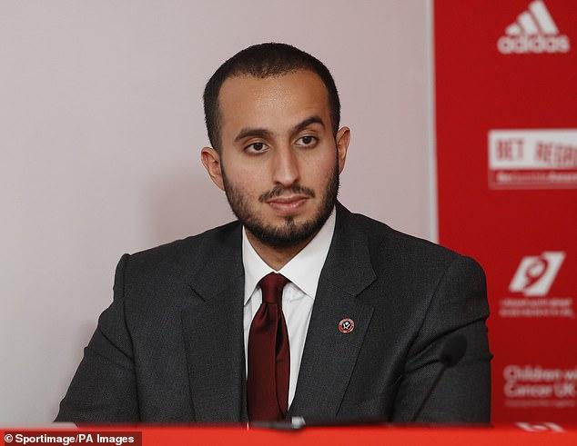 Sheffield United chairman Prince Musaad Bin Khalid Al Saud has resigned