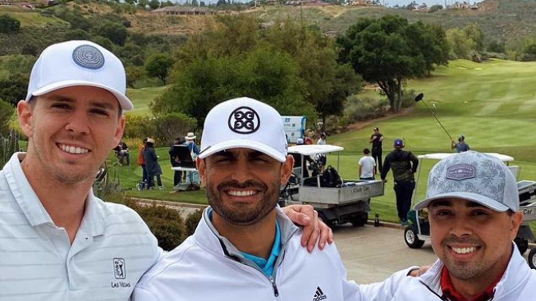 Victor Lopez, Marco Contreras and Estes Rodriguez
