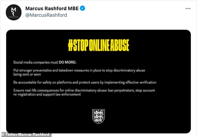 Manchester United and England star Marcus Rashford demanded social media companies take more action to fight abuse and discrimination ahead of the weekend boycott