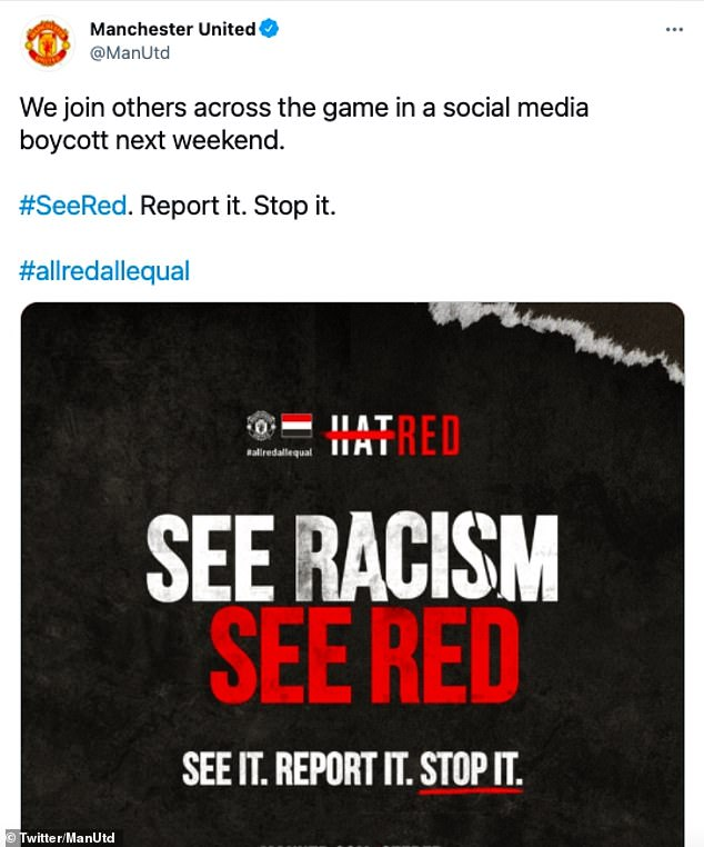 Manchester United are among the leading teams going off social media this weekend