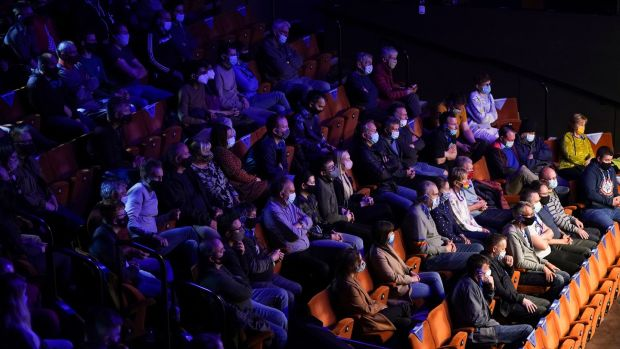 Fans at the Crucible as part of the UK's pilot events. Photo: Zac Goodwin/PA Wire