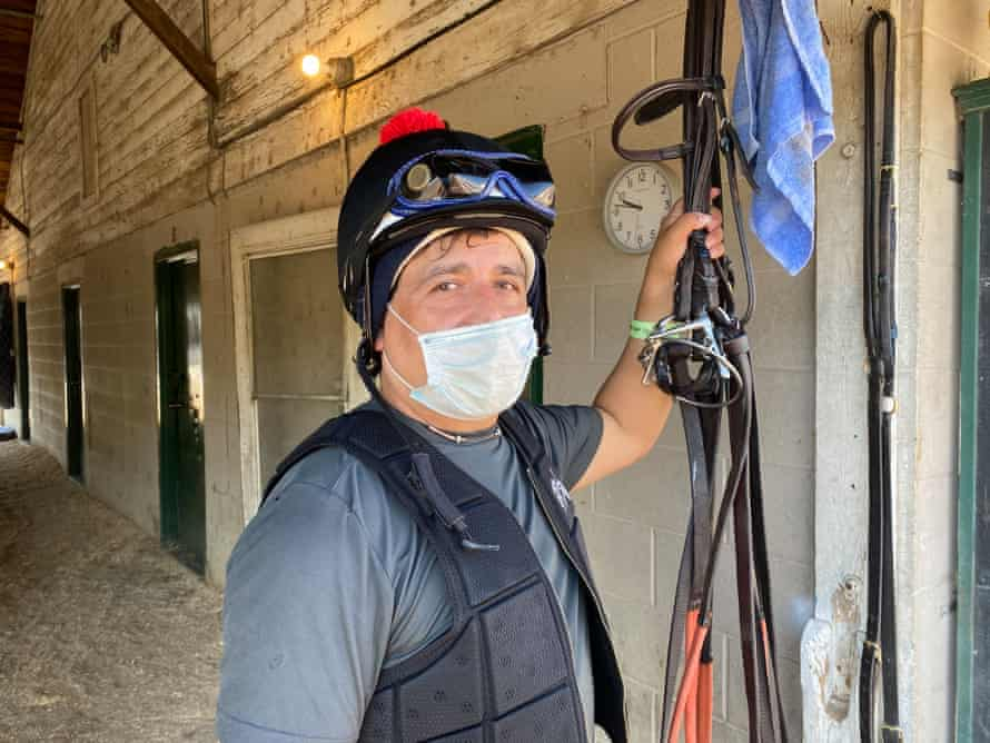 Exercise rider Ramiro Vargas, 42, has been working on the Backside of Churchill Downs for over a decade.