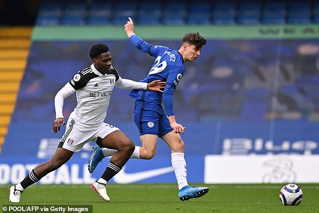 Havertz was sent clear by Mason Mount before firing across goal to give Chelsea the lead