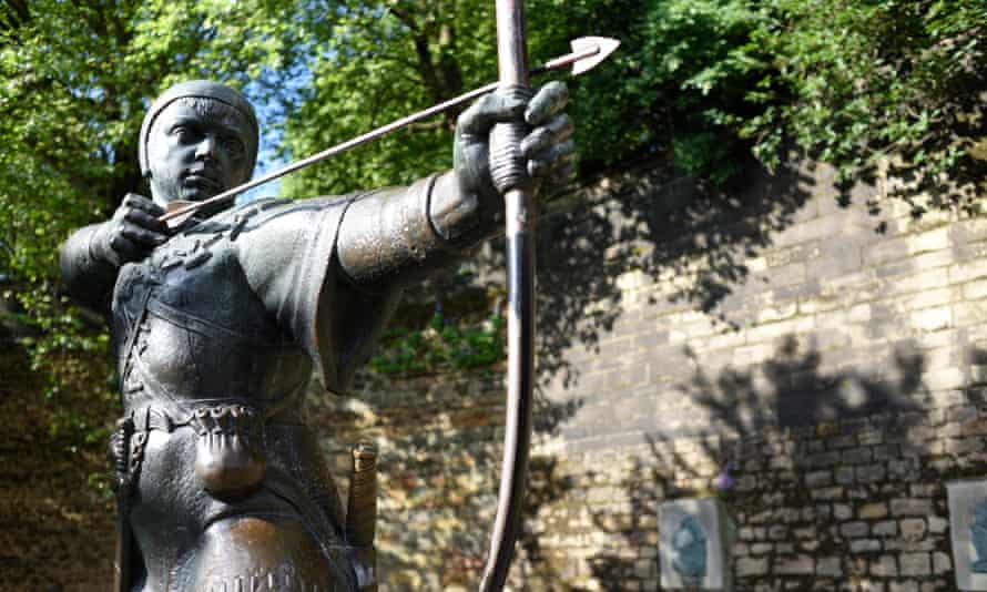 The Robin Hood Statue Nottingham Castle