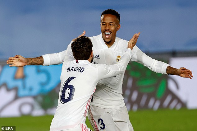 Eder Militao's header ensured Real Madrid's chances of retaining LaLiga remained alive with a 2-0 home win over Osasuna on Saturday night