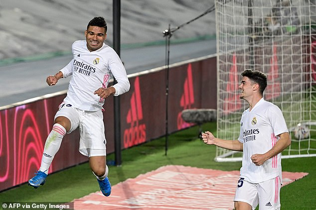 Casemiro doubled the lead with a seemingly fortunate finish as they closed the gap to rivals Atletico Madrid to two points
