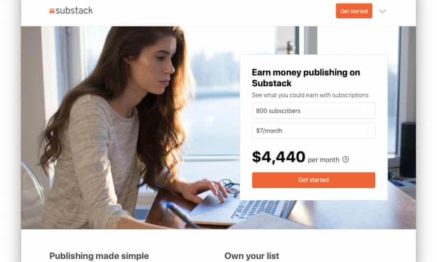An online advert for Substack