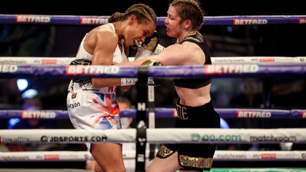 Taylor and Jonas were evenly matched for much of the fight. Photo: Dave Thompson/Matchroom Boxing/Inpho