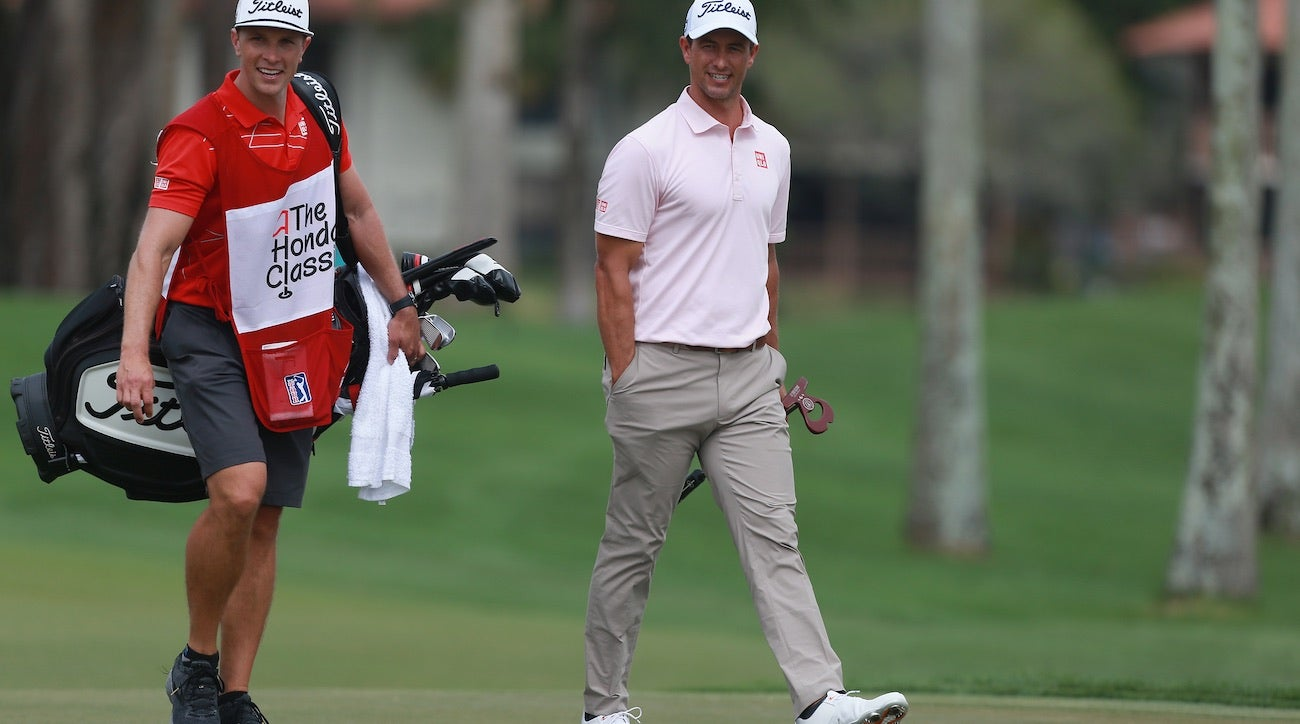 It was impossible to miss Adam Scott's new DirectedForce mallet on the course.