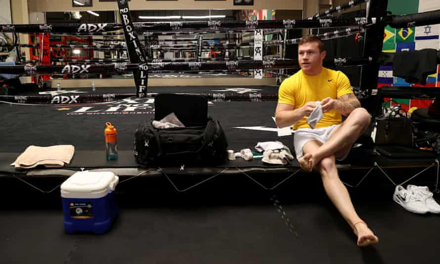 Saúl 'Canelo' Álvarez prepares to train last month in San Diego for his upcoming fight against Billy Joe Saunders in Arlington, Texas.