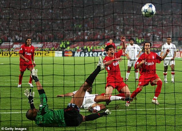 However, Liverpool struck back through Steven Gerrard, Vladimir Smicer and Xabi Alonso