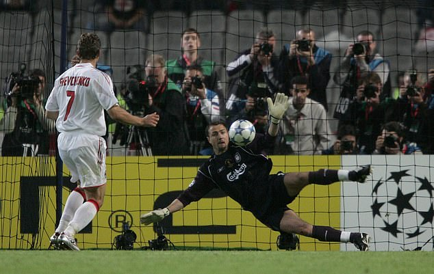 The English side then won after Jerzy Dudek's save from Shevchenko in the penalty shootout
