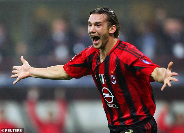 The Ukraine legend left the San Siro after a seven-year spell that saw him score 173 goals