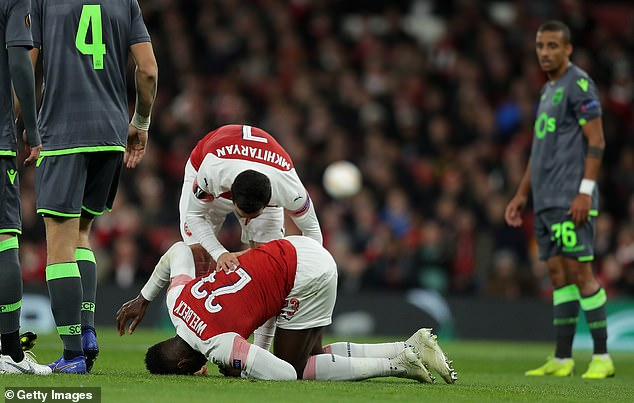Danny Welbeck missed 42 games after he landed badly on his ankle in November 2018